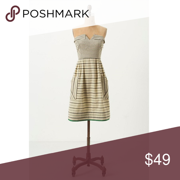 96f7ec6a23409 Anthroplogie Changing Stripes Strapless Dress Changing Stripes Strapless  Dress from Anthropologie brand Maeve. Size: