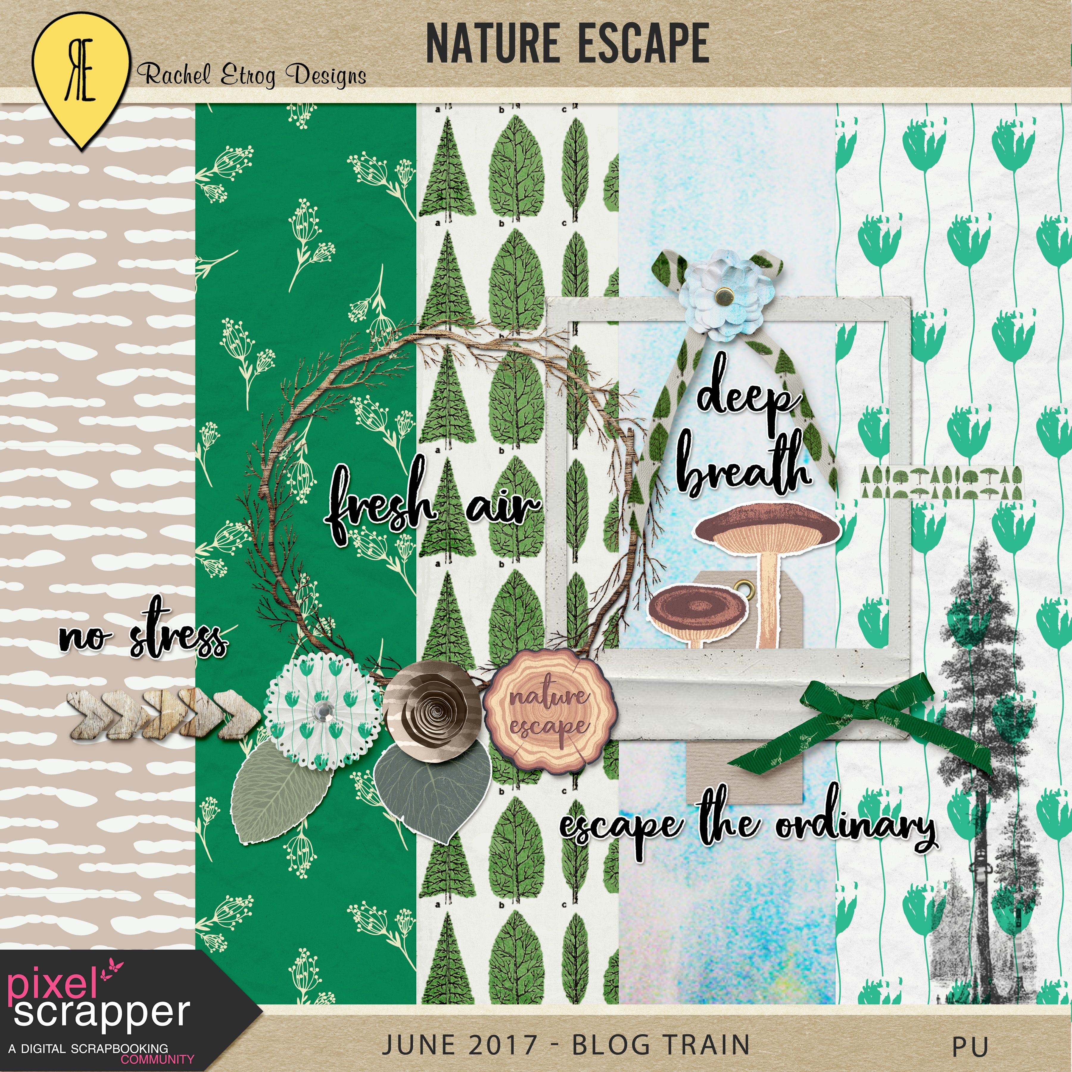 Free Nature Escape Mini Kit from Rachel Etrog