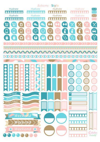 pingl par l 39 atelier cr atif sur stickers printable pinterest a imprimer planificateur et. Black Bedroom Furniture Sets. Home Design Ideas
