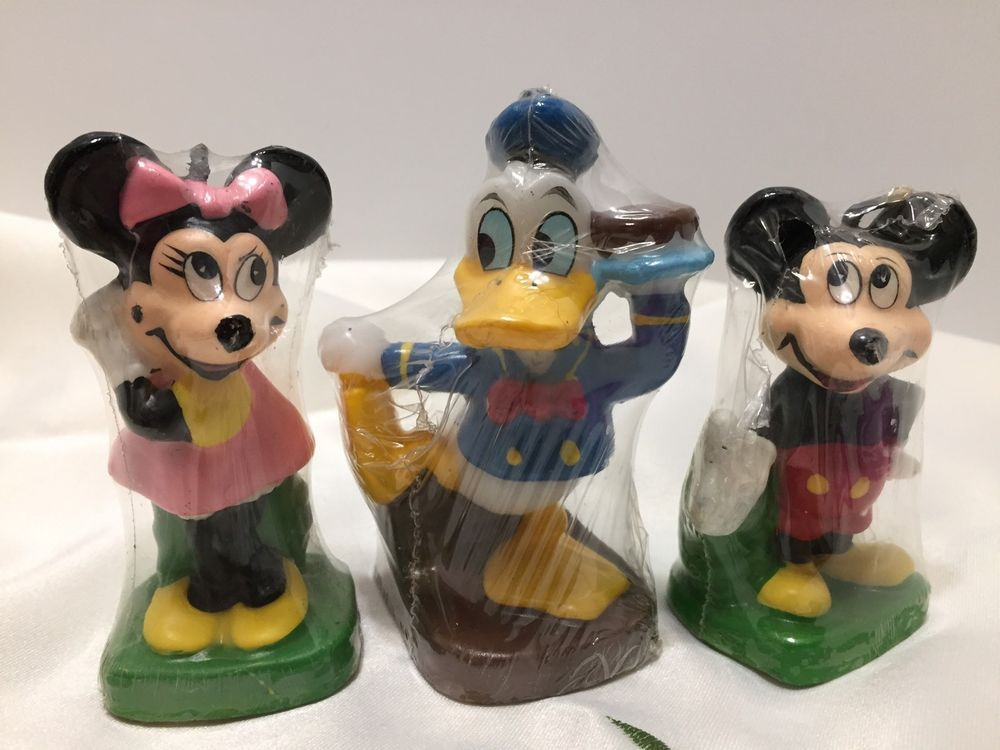 8 vintage disney sealed candles mickey minnie mouse donald