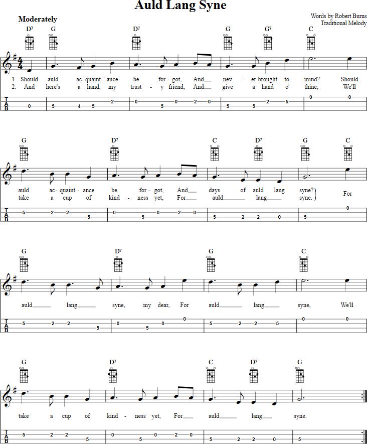 Piano piano tab sheet music : Auld Lang Syne Mandolin Tab | Mandolin | Pinterest | Mandolin ...