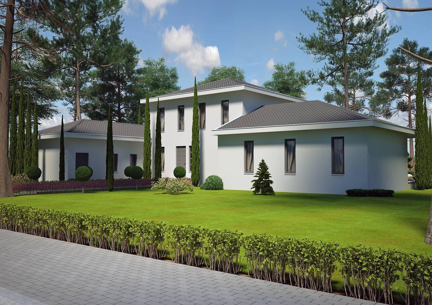 Azur logement provencal vous présente une villa contemporane modèle pinede contemporaine 130m2 villa à étage