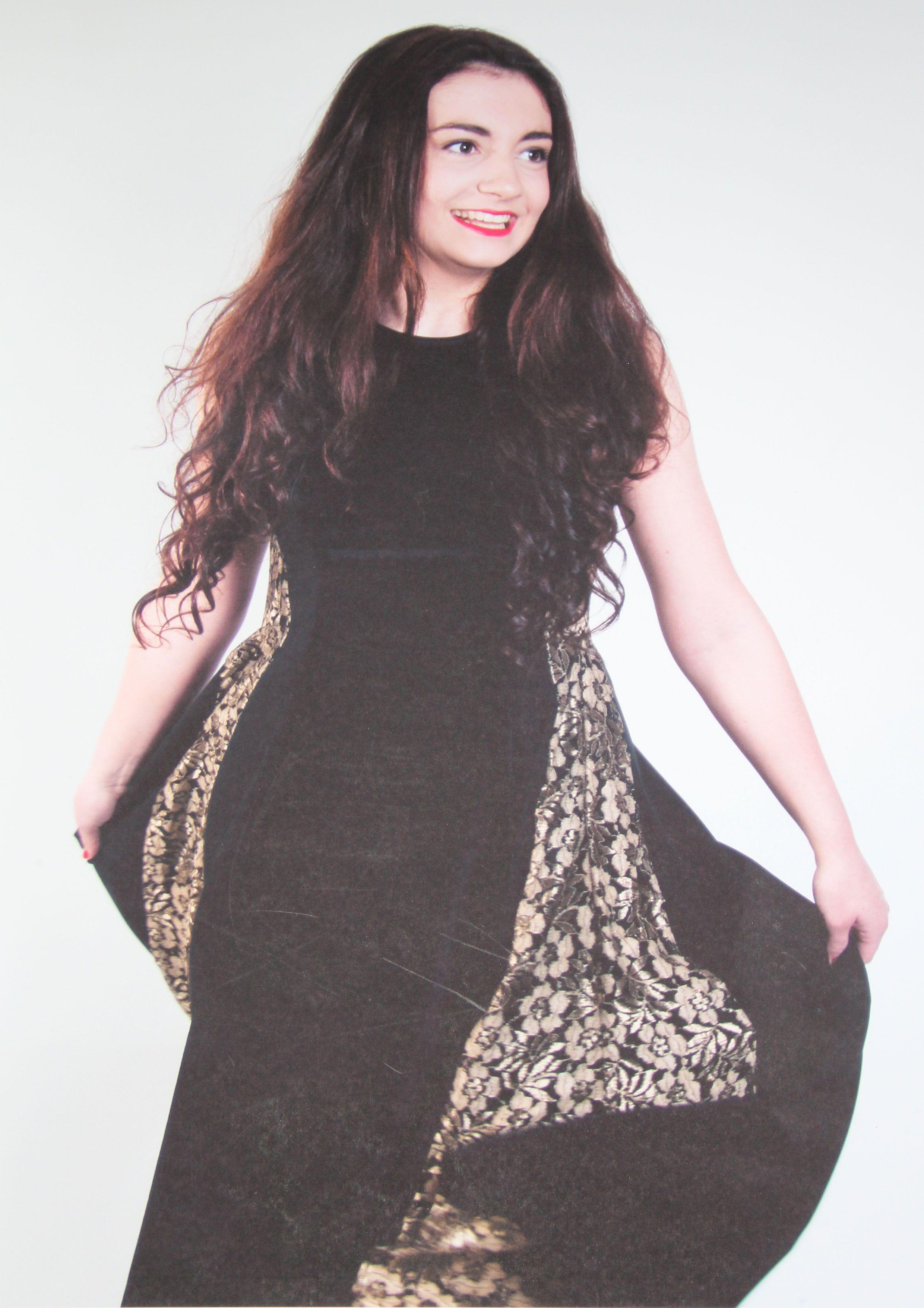 Back view dress project dress black velvet black satin backed