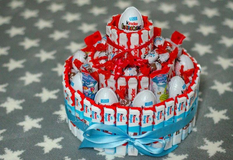 kinderschokolade torte candycake step  step photo
