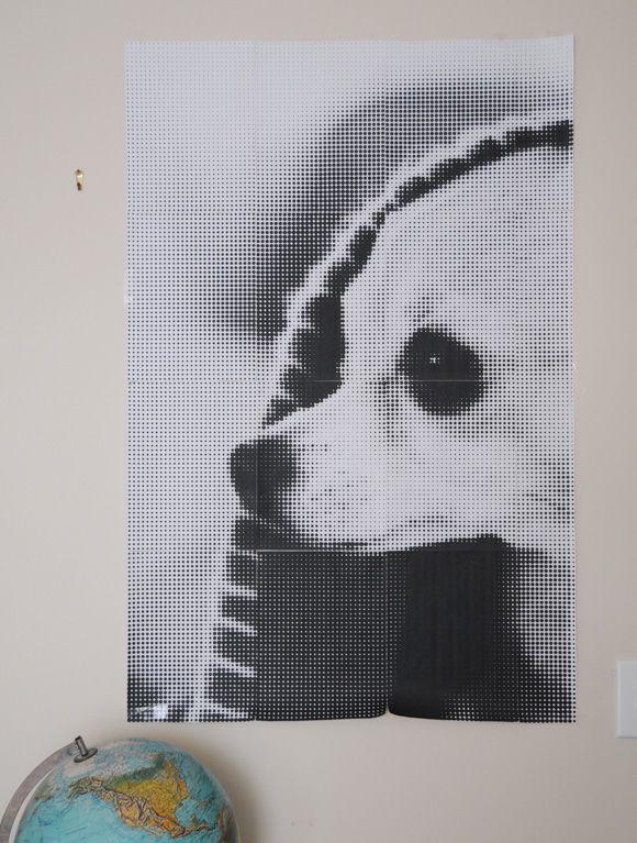 Great idea! A Large format pixel art by @Ez Pudewa