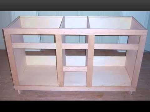Custom Built Vanity YouTube Plans Pinterest Vanities - How to build a bathroom cabinet