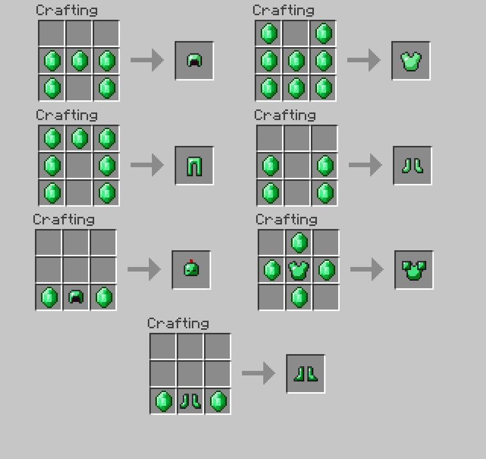 Emerald And Obsidian Tools Mod For Minecraft 1 8 1 7 10 Minecraft Banner Designs Minecraft Crafting Recipes Minecraft Crafts