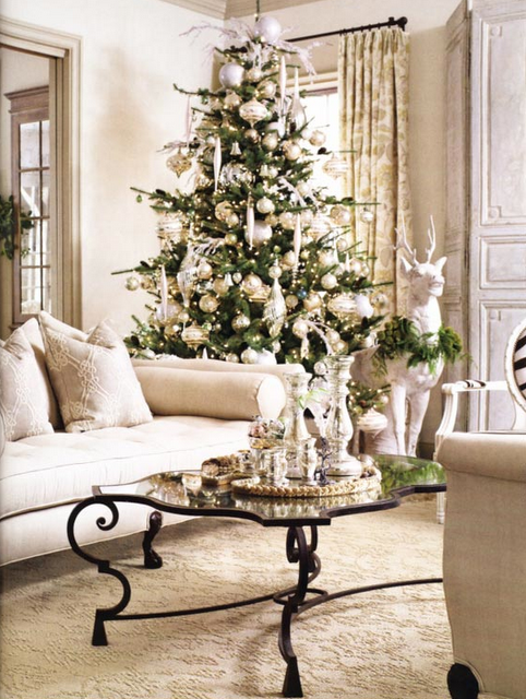 Pin By Nichol Naranjo On The Most Magical Time Of The Year White Christmas Decor Christmas Interiors Christmas Home