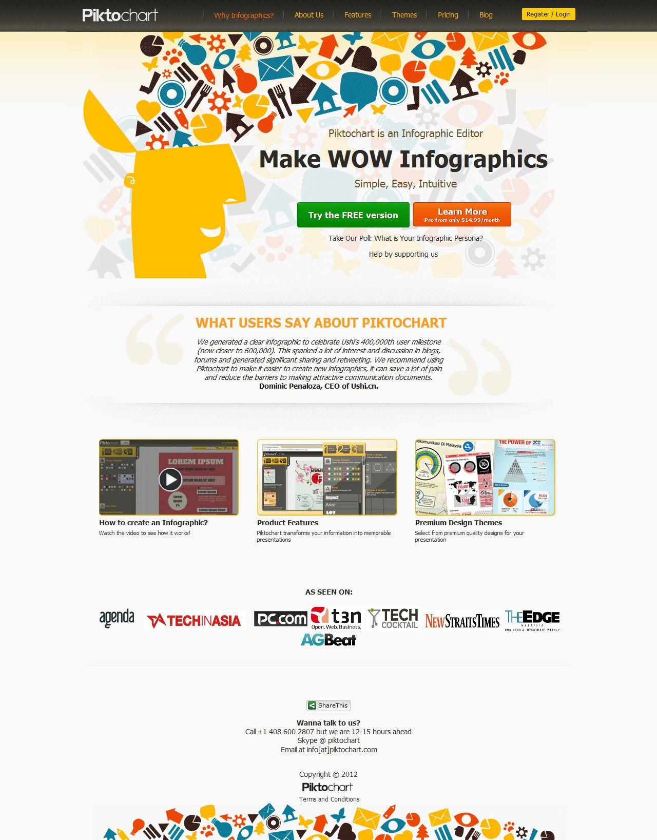 Second Version Of Piktochart Website Design