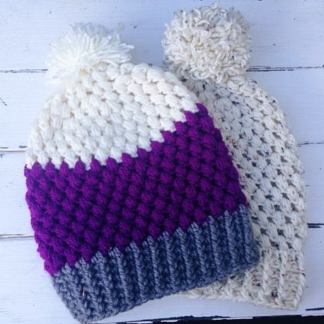 9024316b838 Puff Stitch Beanie Free Crochet Pattern