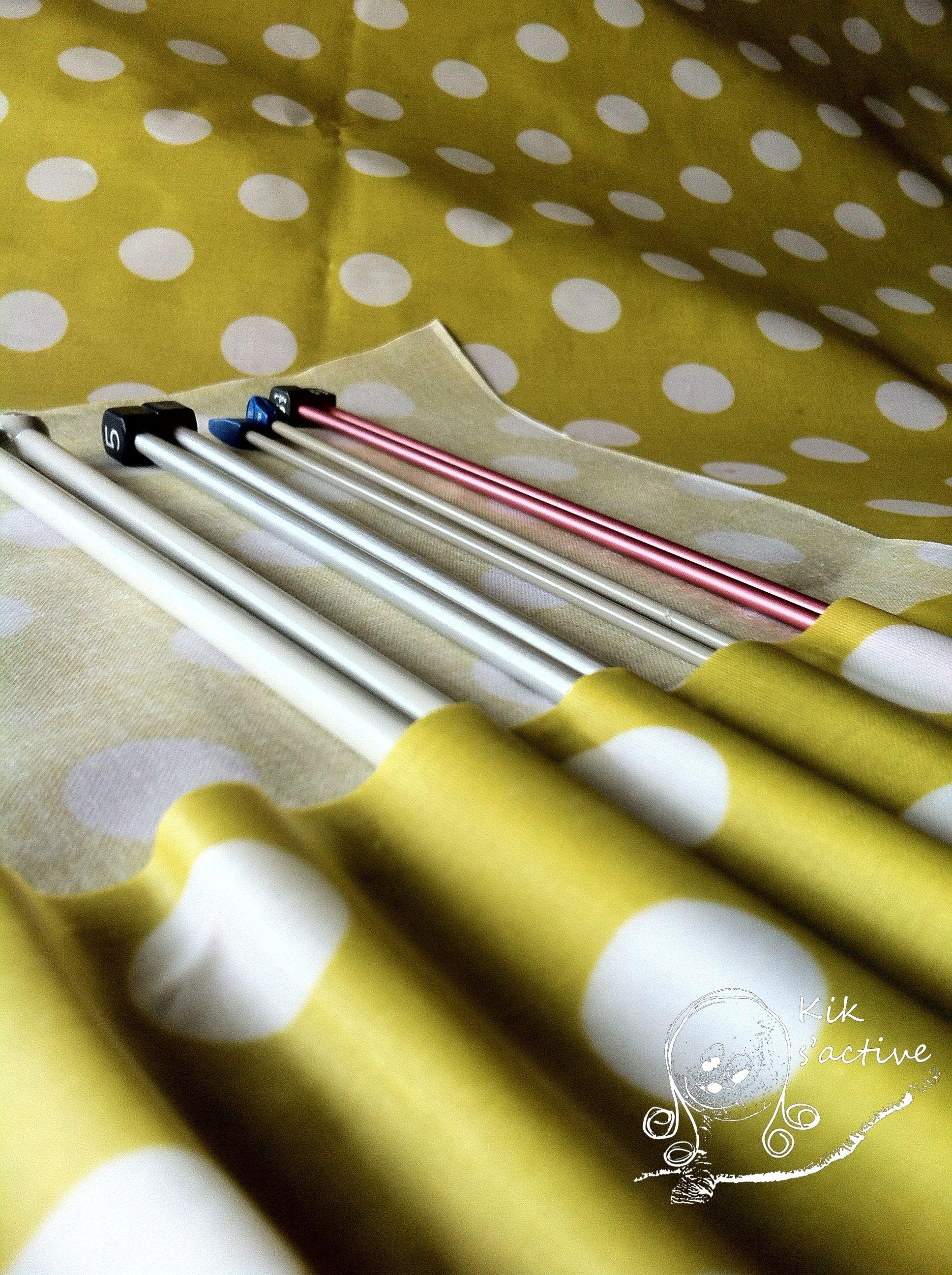 Diy range aiguilles à tricoter   Aiguille a tricoter, Tuto couture, Tricot