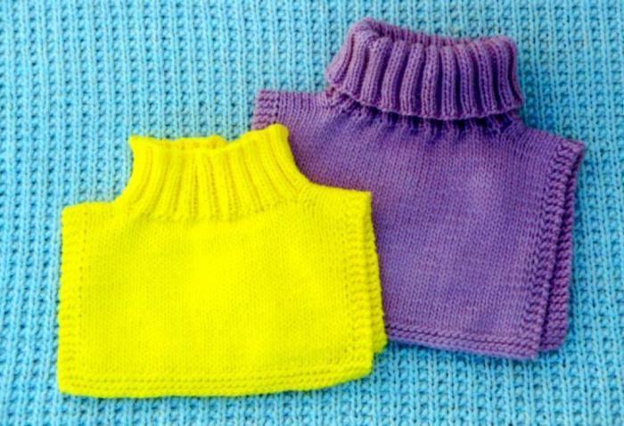 манишка спицами для детей Knit вязание детское вязание и