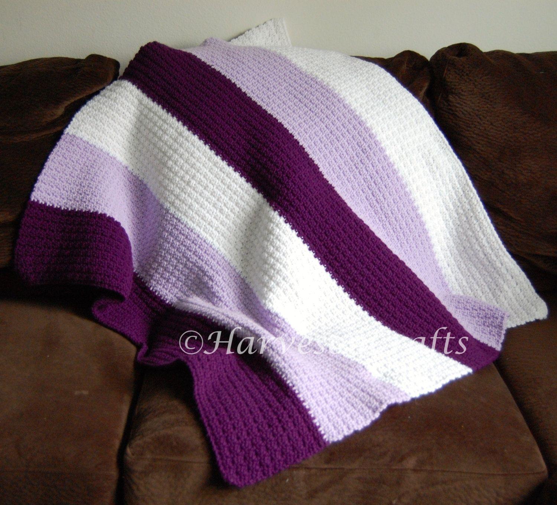 Purple Ombre Crochet Lap Blanket Crochet blanket