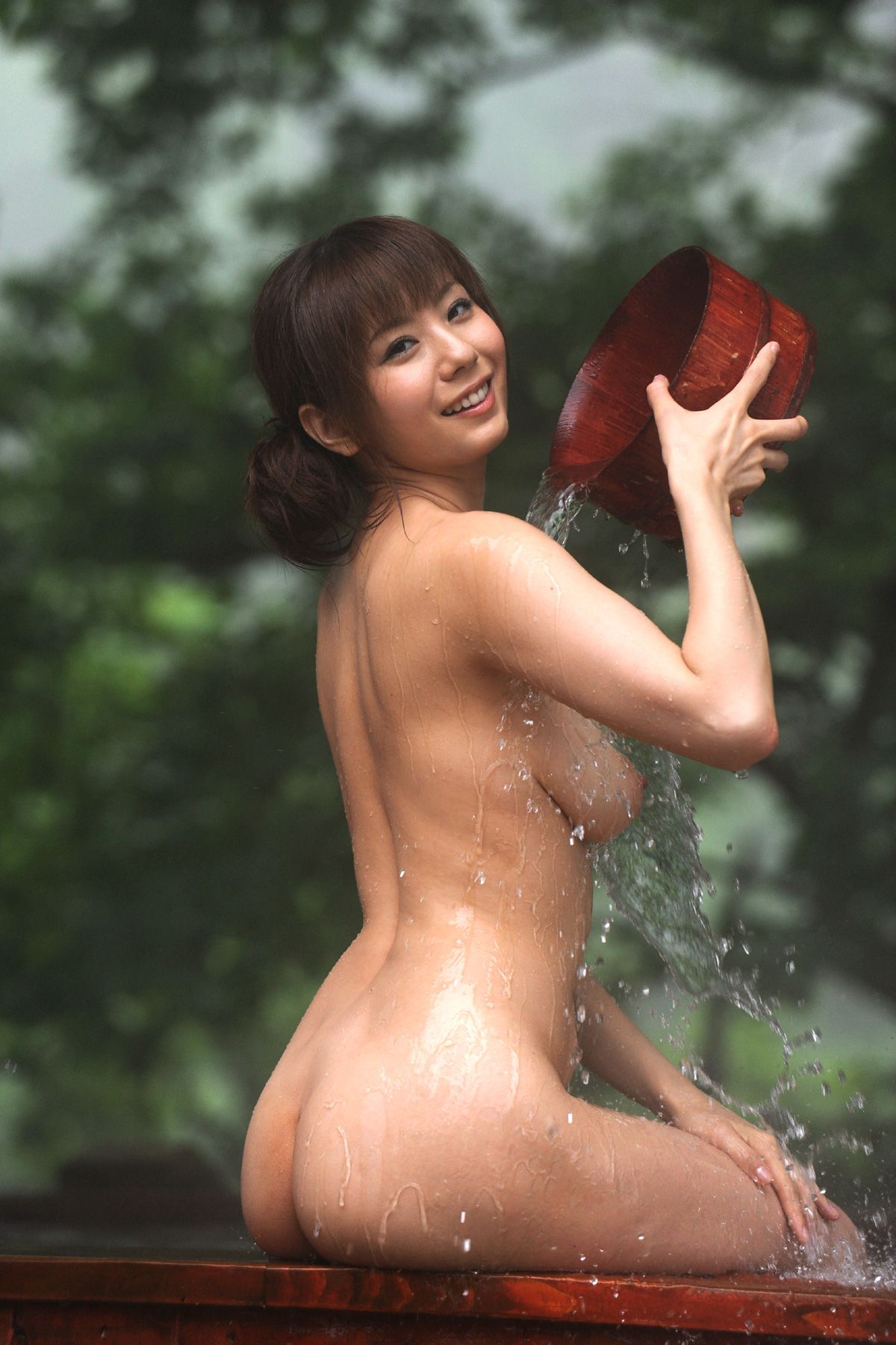 from Ace hot japanese girl taking nude bath in shower