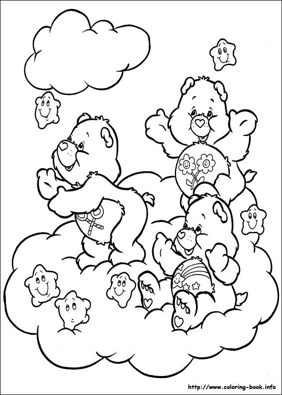 The Care Bears Coloring Picture Bear Coloring Pages Star Coloring Pages Cartoon Coloring Pages