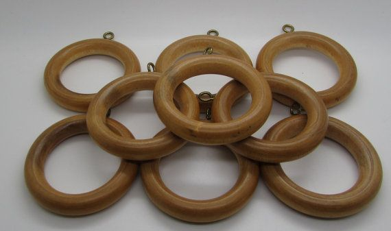 Wooden Curtain Rings Drapes Curtain Rod Rings Window Drapery Wood