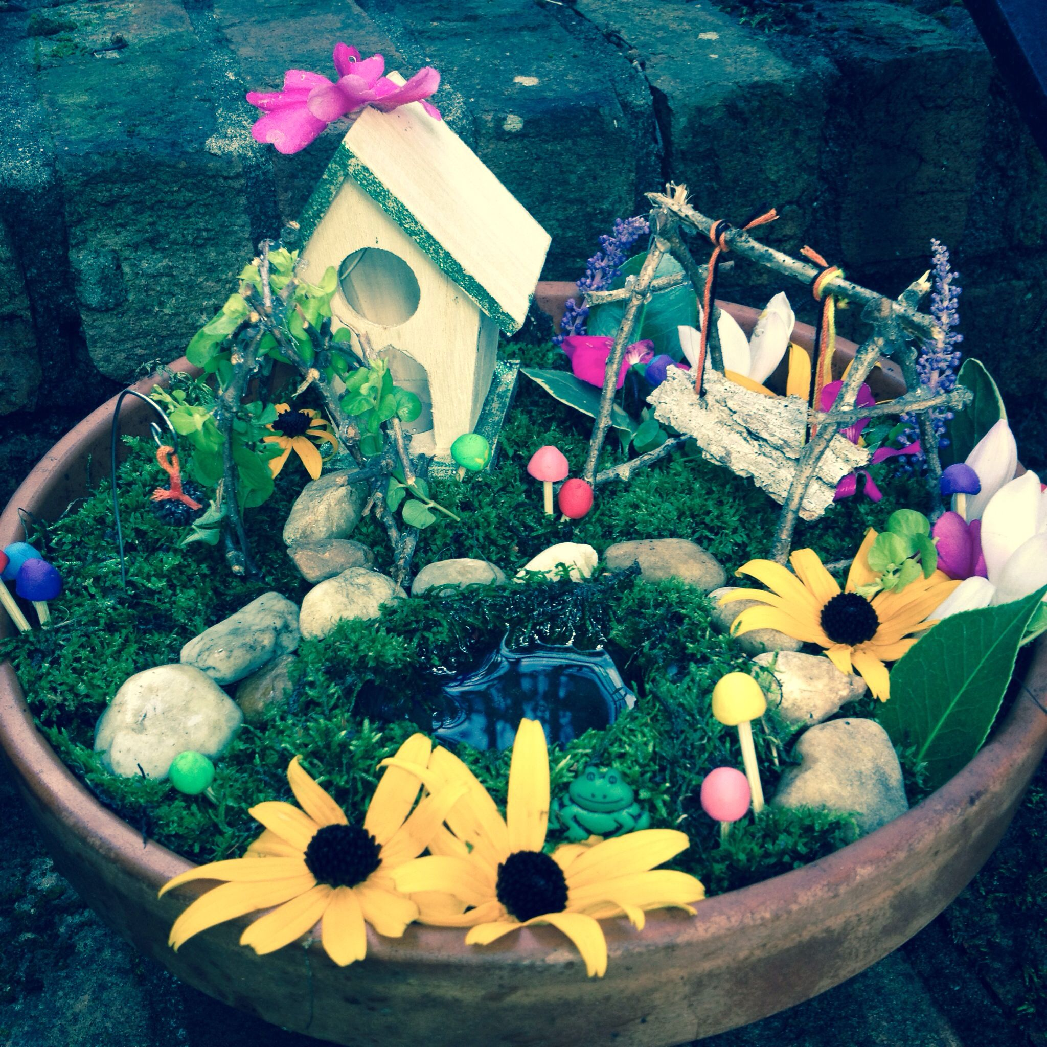 Awesome fairy garden by Kiyah! I just made this!!   -K