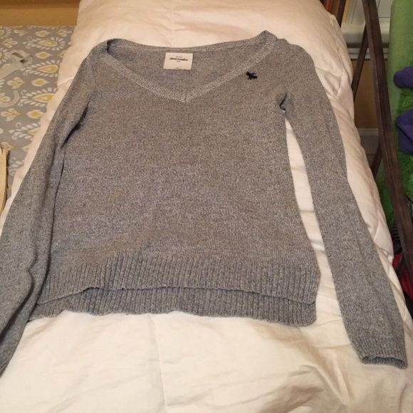 V-neck Sweater It is super comfy and cute! I am willing to adjust my price:) Abercrombie & Fitch Sweaters V-Necks
