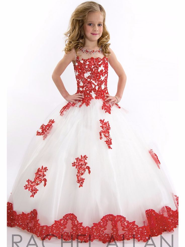 Click To Buy 2017 Lovely Red Lace White Graduation Dresses Kids