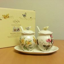 New with Box lenox butterfly meadow7-piece condiment Set