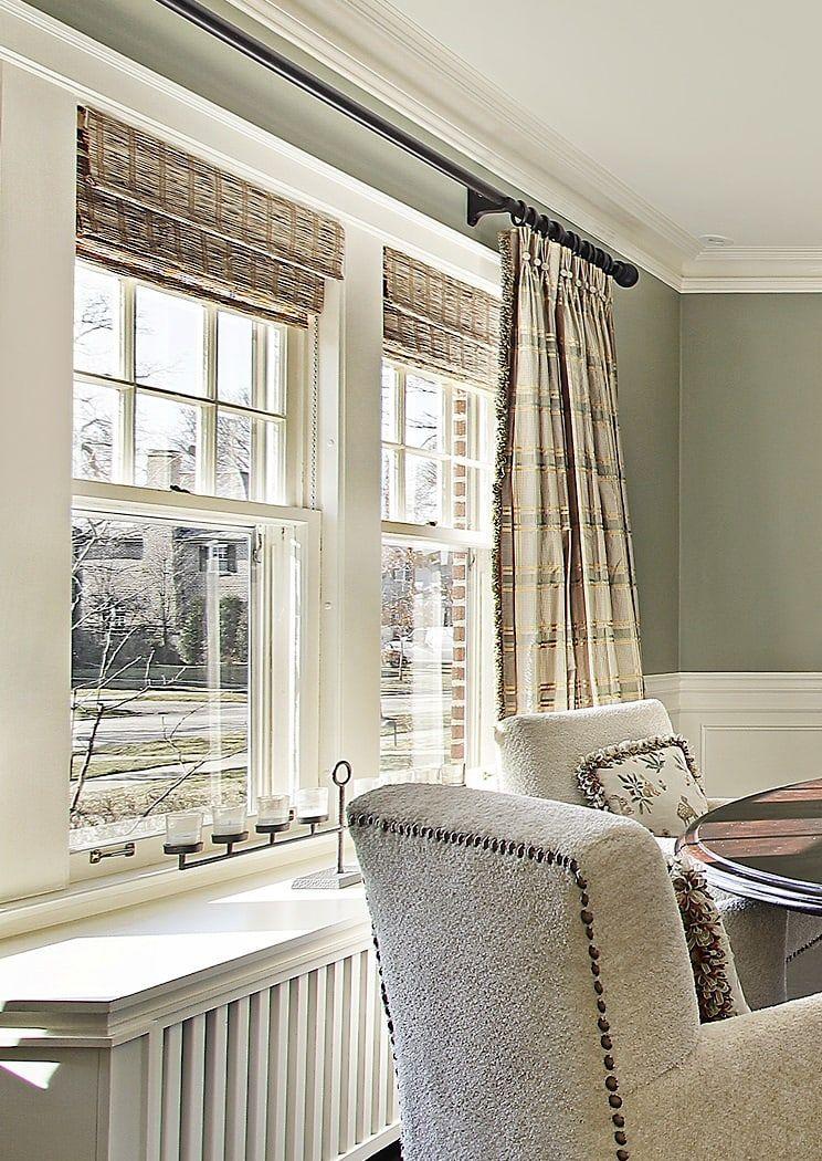 Double Wide Silk Drapery Dining Room Window Treatments Dining Room Windows Traditional Window Treatments
