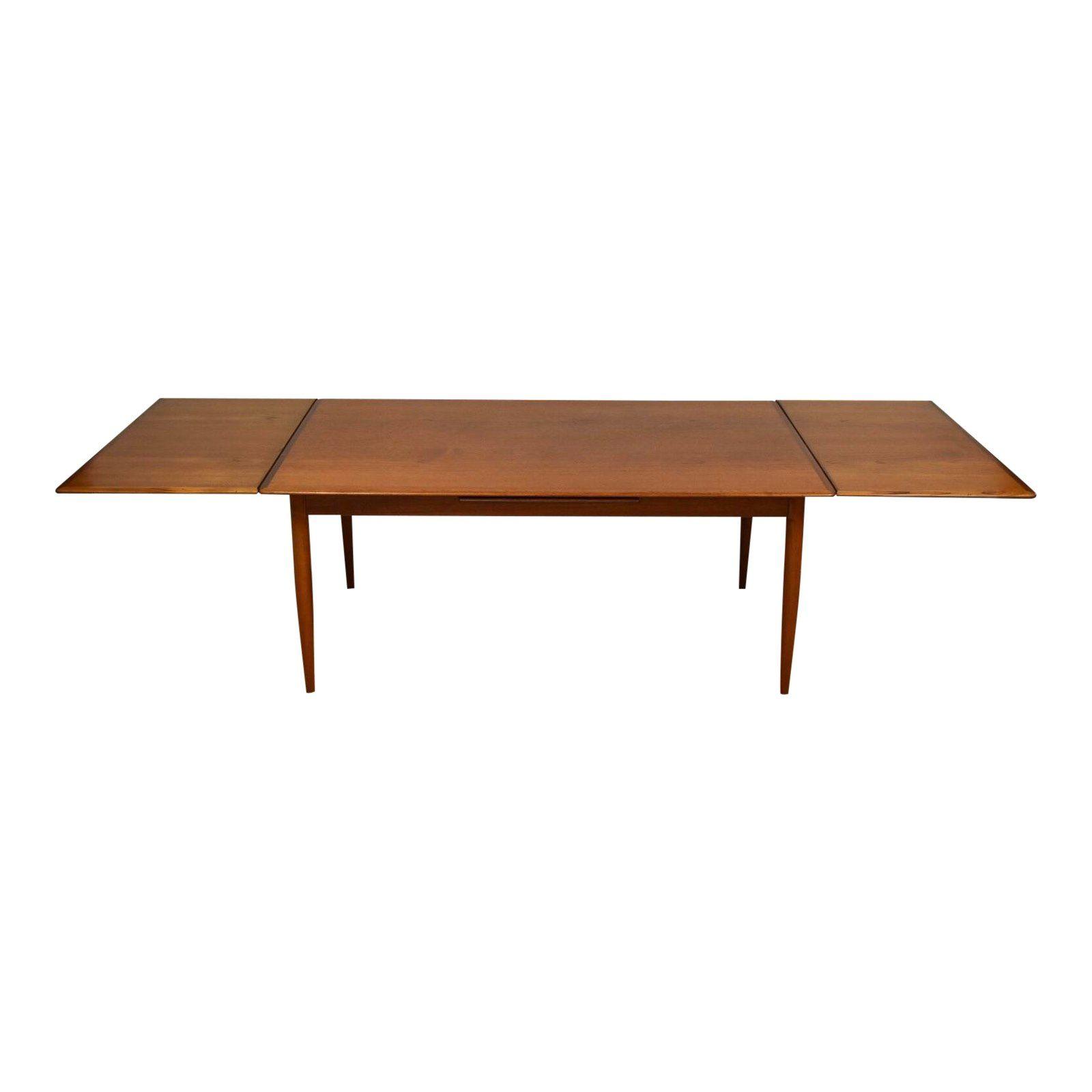 Danish Teak Draw Leaf Dining Table For Sale Dining Table Extendable Dining Table Dining