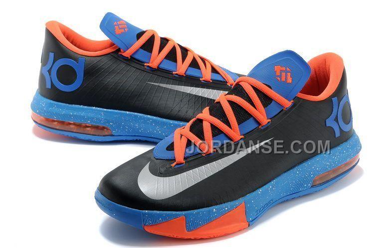 free shipping 9152e 4afe1 NK Kevin Durant KD 6 VI OKC Away Black Metallic Silver-Team Orange-. Discount  SneakersKd 6Kevin DurantNike ...