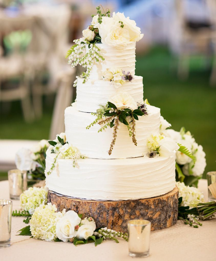 20 Ways to Decorate Your Wedding Cake with Fresh Flowers | Rustic ...