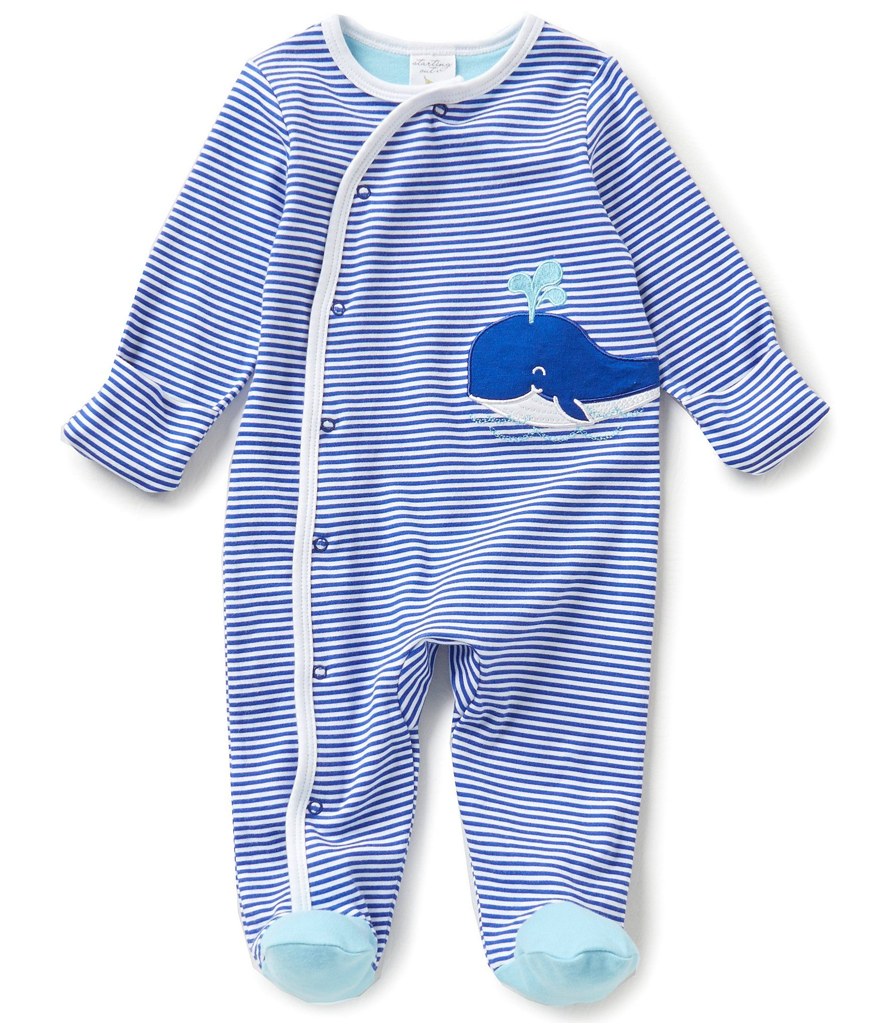 Starting Out Baby Boys Newborn6 Months Striped Nautical Footed