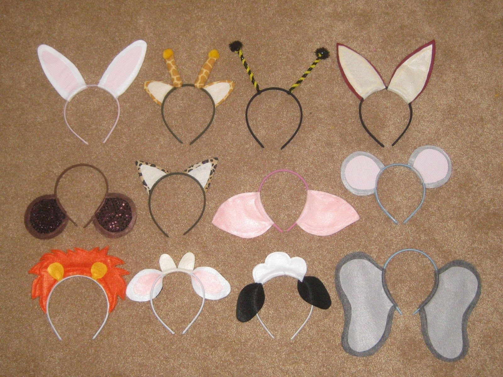 Plastic headbands for crafts - Animal Ears Headbands Ecofelt Is Quite Affordable And It Is Made Out Of Recycled