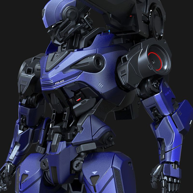 some kinda mech i created based on my own concept drawing i used 3dsmax and zbrush for the modeling