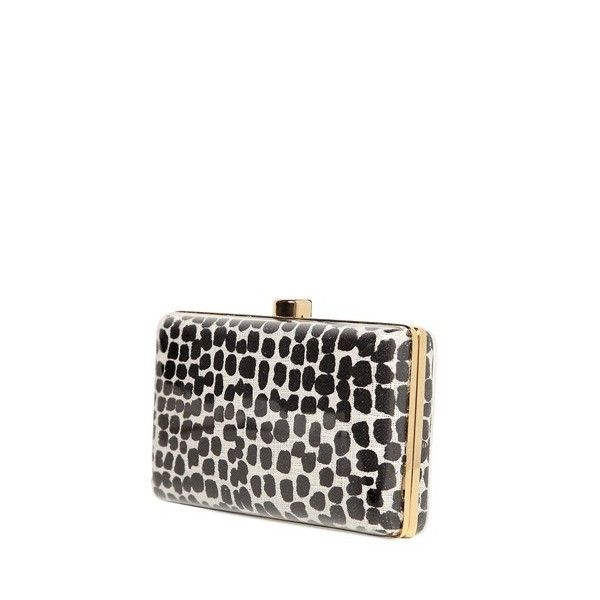 STELLA MCCARTNEY Plexi Glass Printed Canvas Clutch ($1,812) found on Polyvore