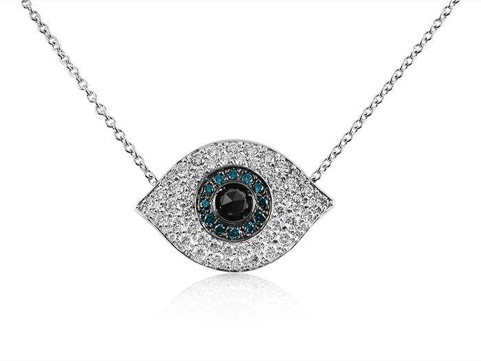 Erika Yelo Lucky Eye//Turkish Eye Short Army Necklace