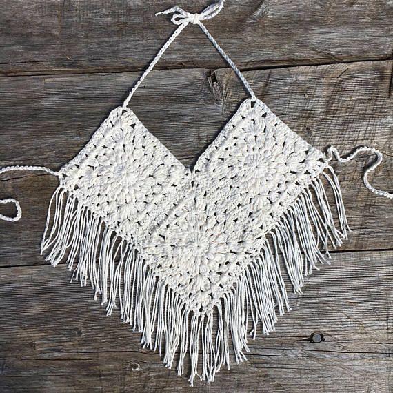 Desert Rose Top, Crochet Crop Top | Cosechas, Desiertos y Tapas