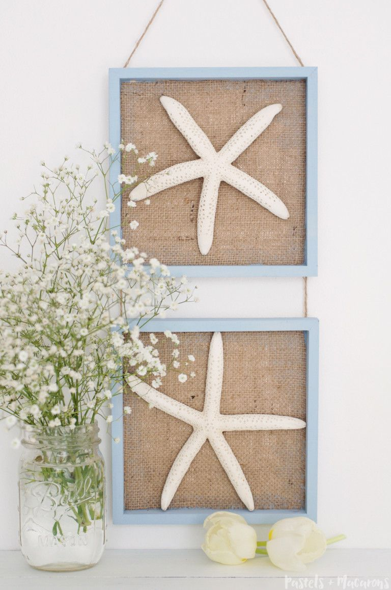 Lovely Nautical Wall Decor Starfish Hanging To Give Any Space In Your Home That  Coastal Feel. This Is Such An Easy Craft To Make!