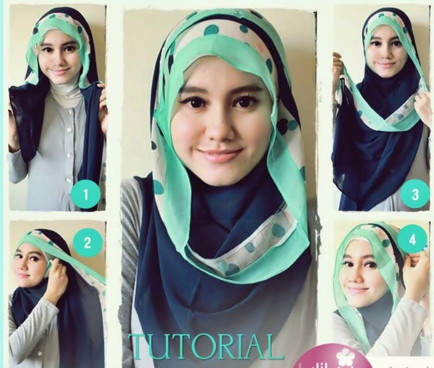Round Face Hijab Style 2018 Step By Step