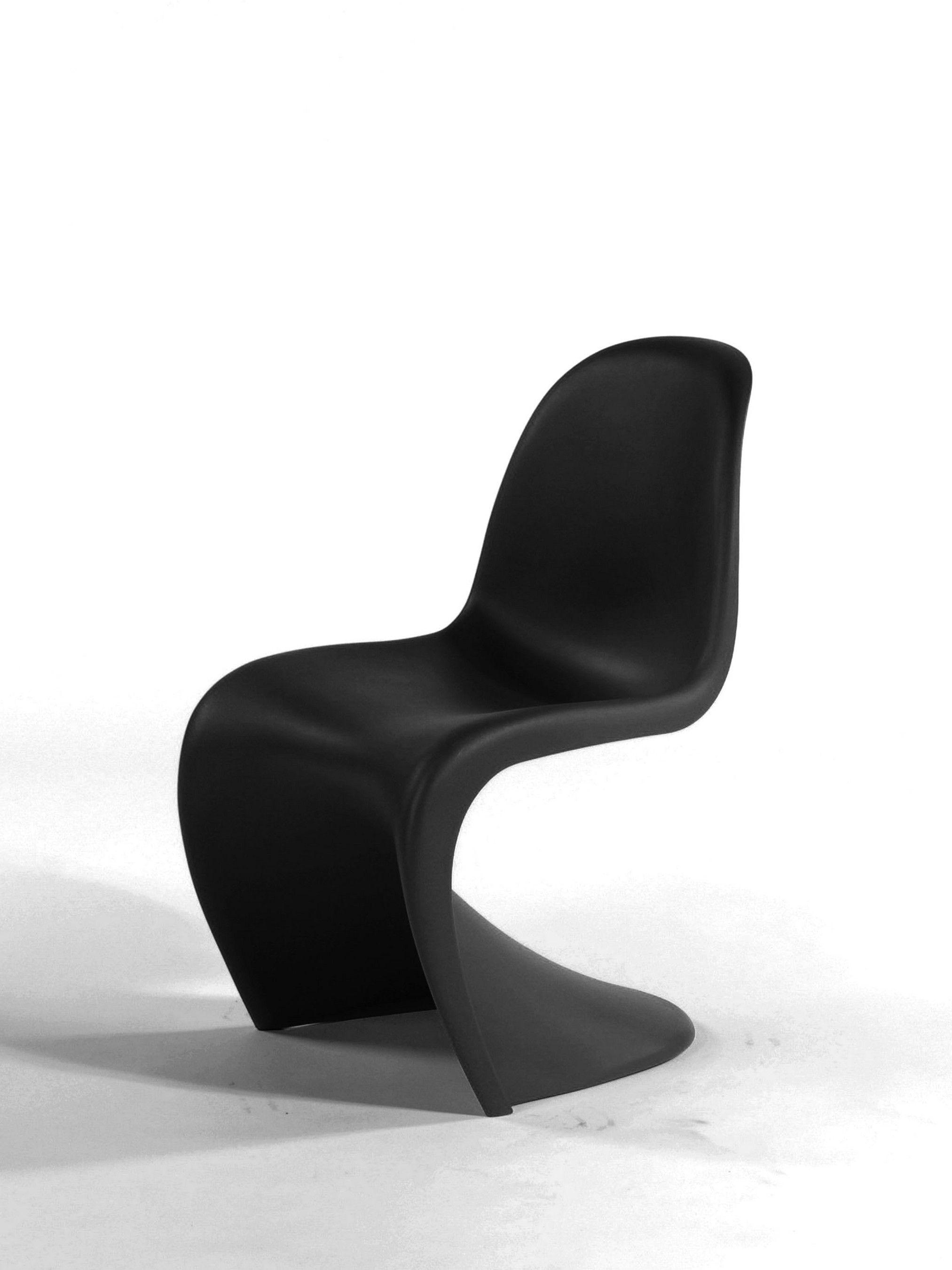 Verner panton panton chair vitra collection black