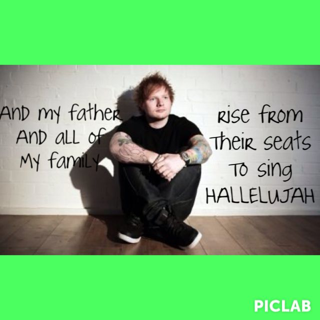 Afire love- Ed sheeran. This gets stuck in my head all the ...