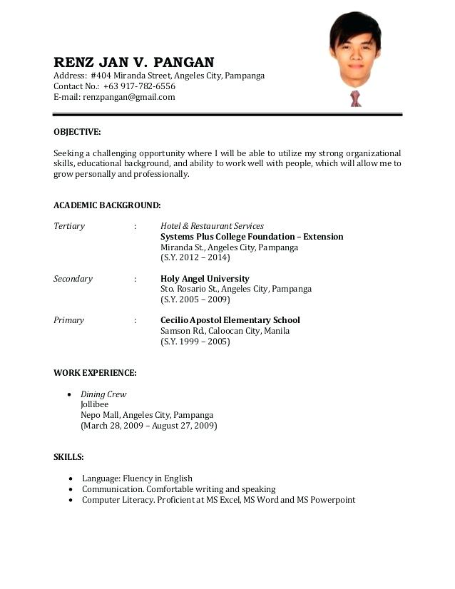 Sample Resume For Job Job resume examples, Cv resume sample