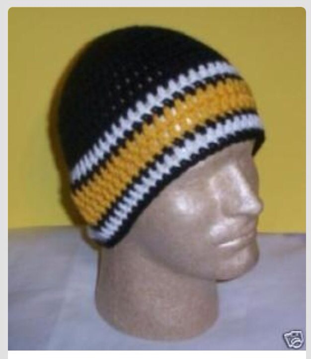 Steelers Hat | Crochet/knit | Pinterest | Dos agujas, Tejido y Invierno