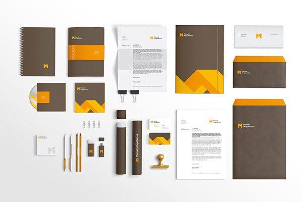 corporate identity of monolit arquitectos grafica pinterest