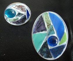 Mozaïek ring en broche gemaakt door mijn moeder