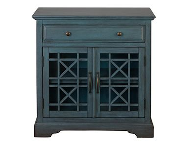 Craftsman Blue Accent Cabinet Antique White Furniture
