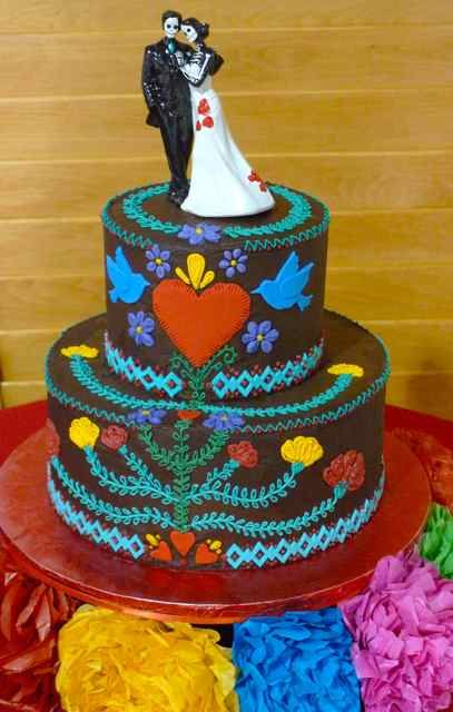 chocolate mexican wedding cakes vegan wedding cake with traditional mexican embroidery 12724