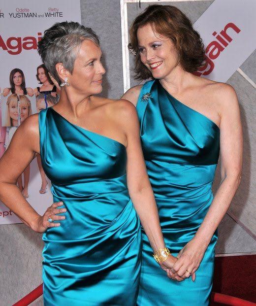 Jamie Lee Curtis and Sigourney Weaver