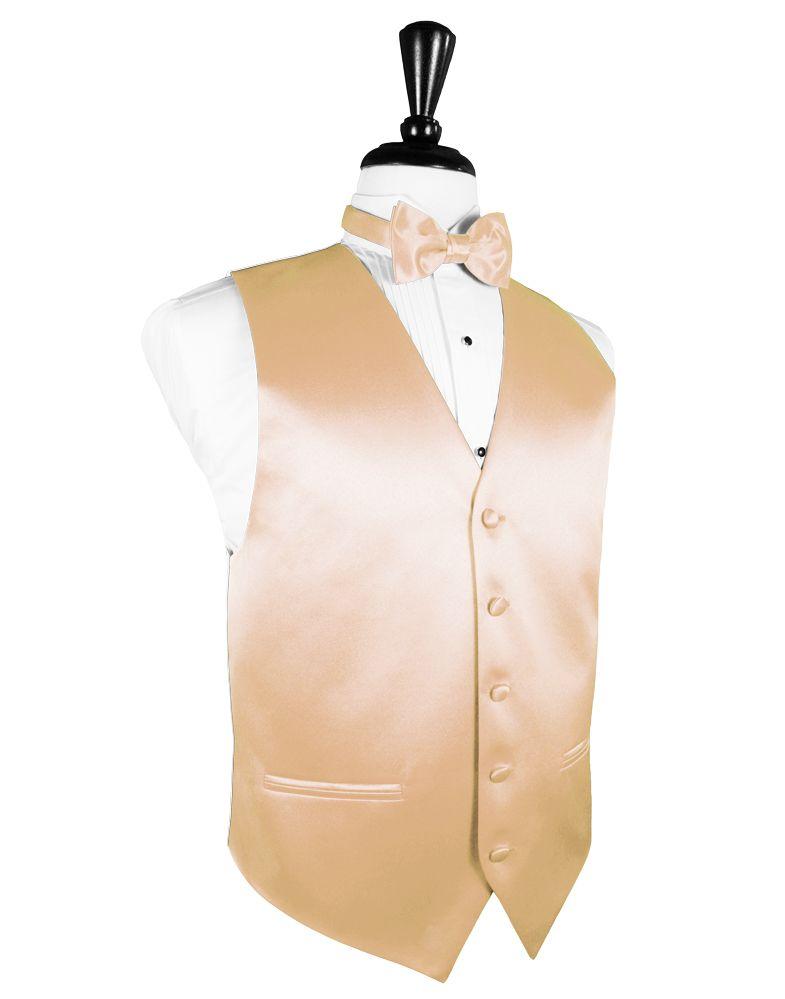 white and gold prom tux | Premiere Solid Satin Peach Tuxedo Vest ...