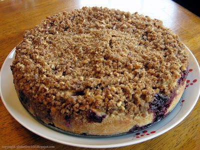 100 Days of Gluten Free Recipes: Gluten Free Blueberry Coffee Cake with Pecan Streusel Recipe