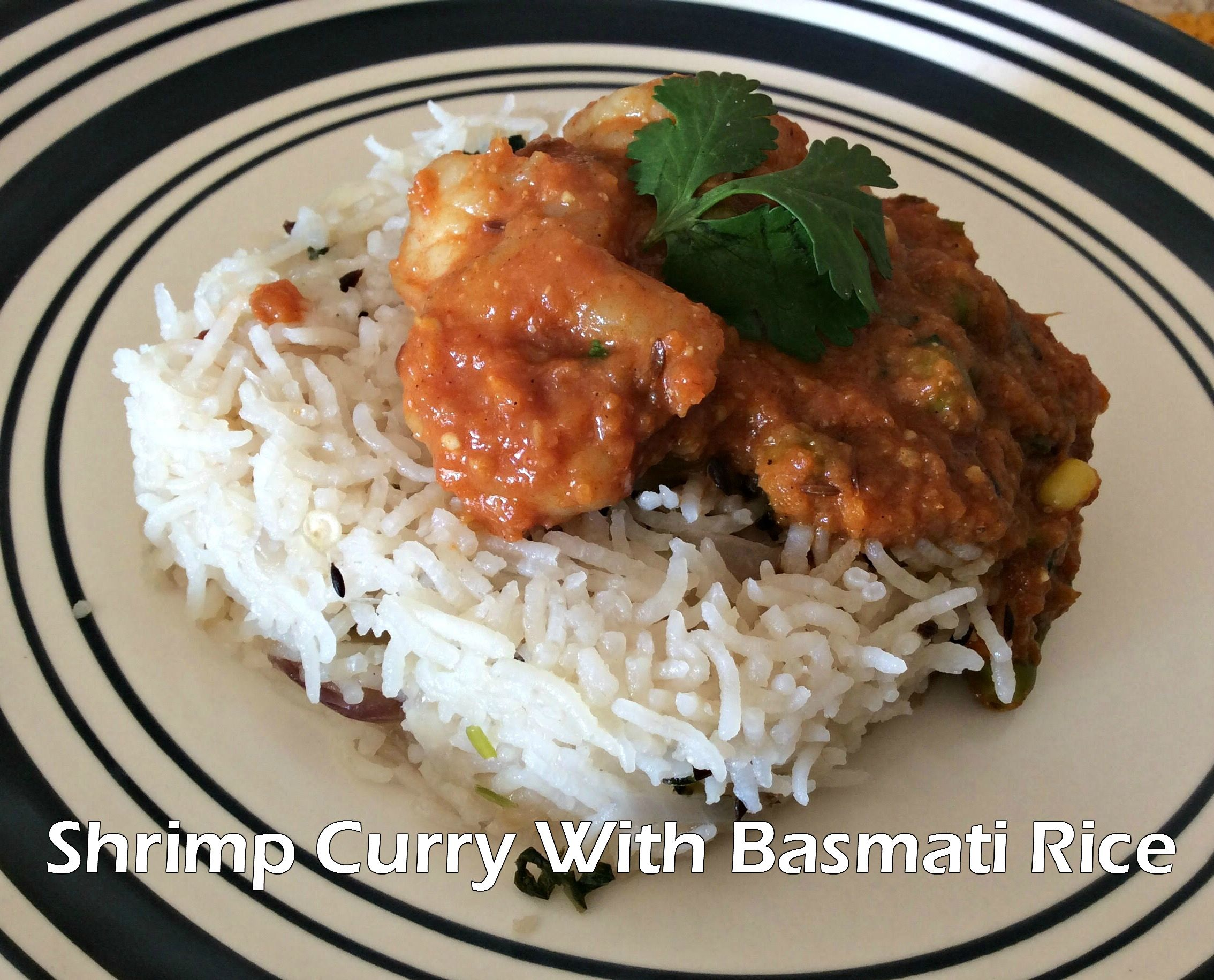 Shrimp Curry With Basmati Rice!! #shrimp #rice #indian #lunch #dinner #tasty