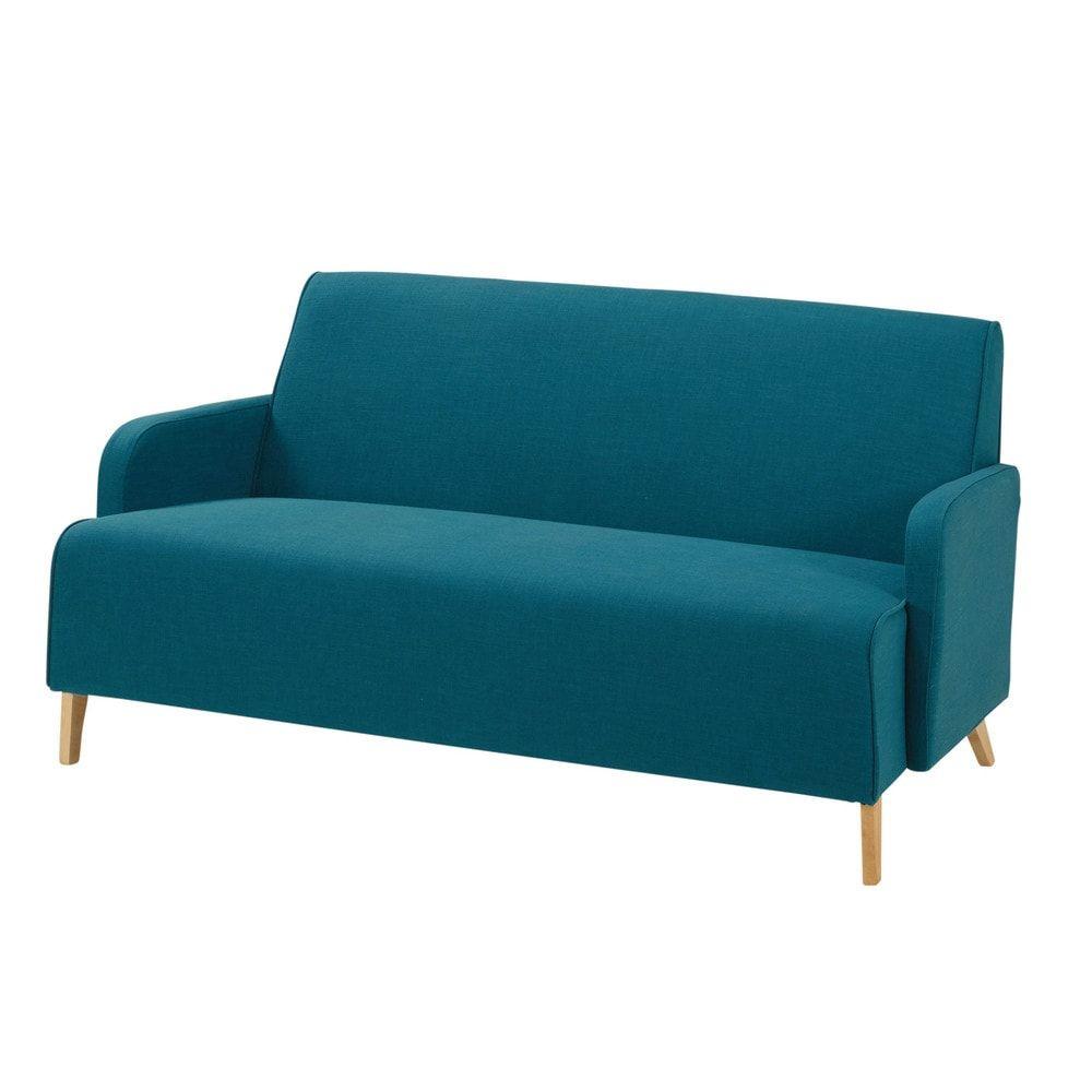Sofa 2-Sitzer aus Stoff, gelb | Fabric sofa and Bedrooms