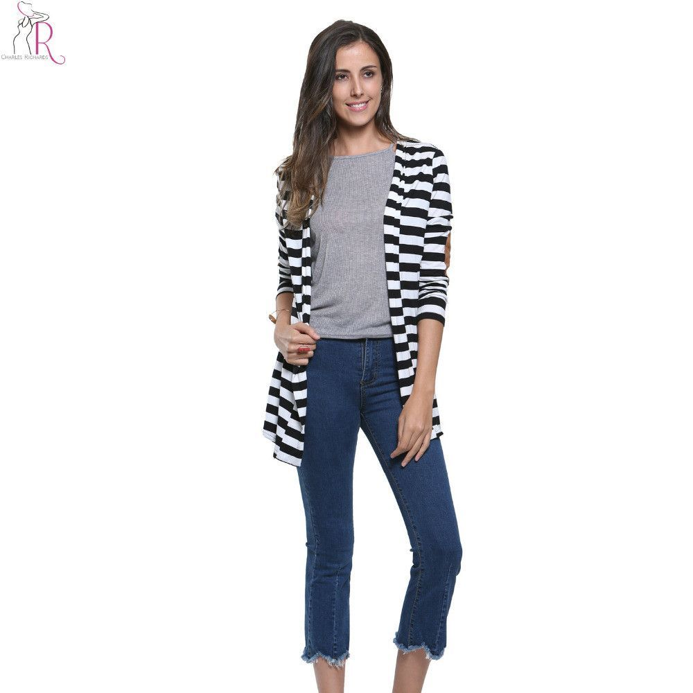 Your day won't be complete without this! Black and White S... http://simplyparisboutique.com/products/black-and-white-striped-elbow-patching-pu-leather-long-sleeve-cardigan?utm_campaign=social_autopilot&utm_source=pin&utm_medium=pin